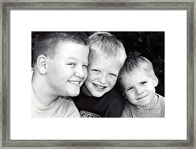 Brothers Three Framed Print