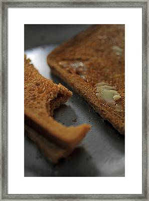 Brown Bread With Butter Framed Print by Ashish Agarwal
