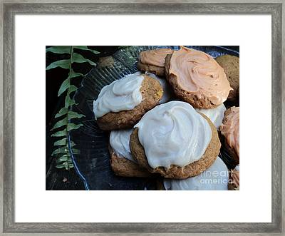 Brown Butter Pumpkin Cookies Framed Print by Jennifer Kelly