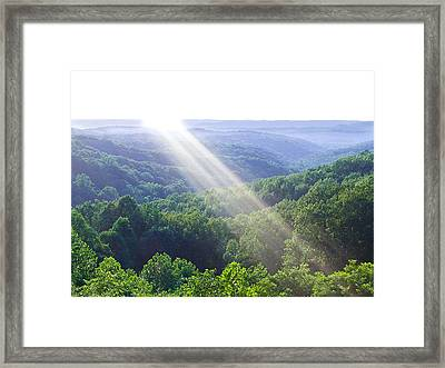 Brown County Framed Print by Drew Wing