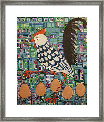 Brown Eggs Are Local Eggs And Local Eggs Have Wheels Framed Print