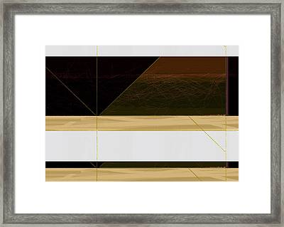 Brown Field Framed Print by Naxart Studio