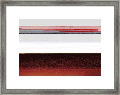 Brown Horizon Framed Print by Naxart Studio
