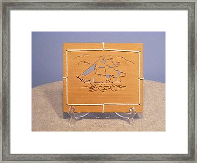 Brown Framed Print by Timothy