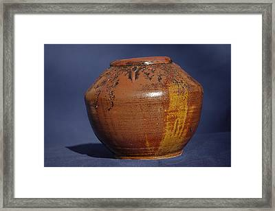 Brown Vase Framed Print by Rick Ahlvers