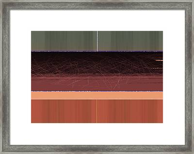 Brown Wall Framed Print by Naxart Studio