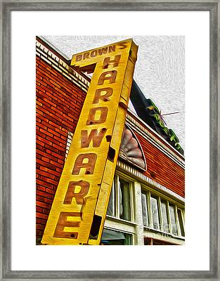 Browns Harware Framed Print by Gregory Dyer