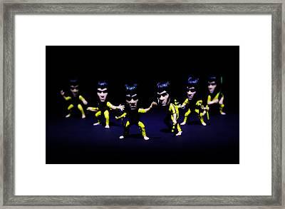 Bruce Lee - Stances  Framed Print