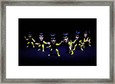 Bruce Lee - Stances  Framed Print by Ian Hufton