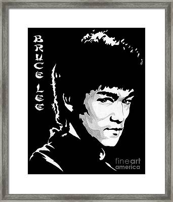 Bruce Lee Framed Print by Zeeshan Nayani