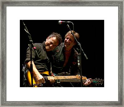 Bruce Springsteen And Danny Gochnour Framed Print