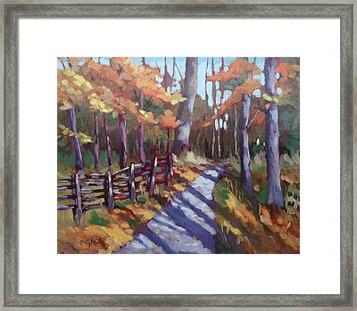Bruce's Mills Fall Colors Framed Print by Edward Abela