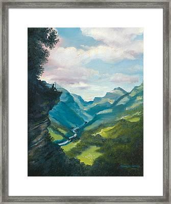 Bruecke To Heaven Framed Print