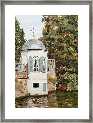 Bruges Canal Sentinel Framed Print