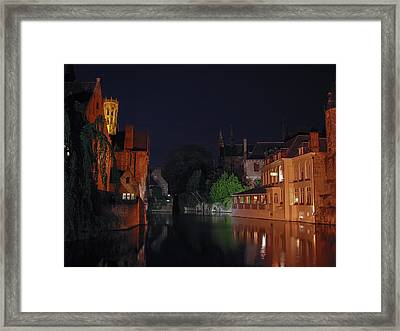 Framed Print featuring the photograph Bruges by David Gleeson