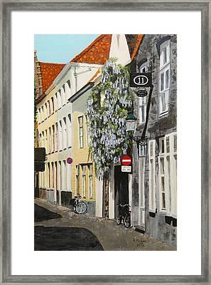 Bruges Wisteria Framed Print