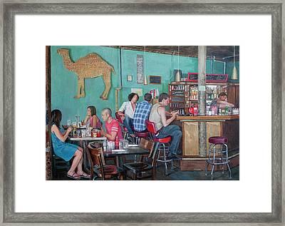 Brunch At Enid's Framed Print by Elinore Schnurr