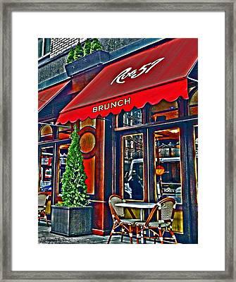 Brunch At The Cafe' Framed Print