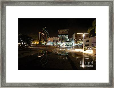 Framed Print featuring the pyrography Brunei At Night  by Gary Bridger