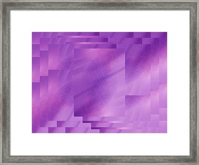 Brushed Purple Violet 7 Framed Print by Tim Allen