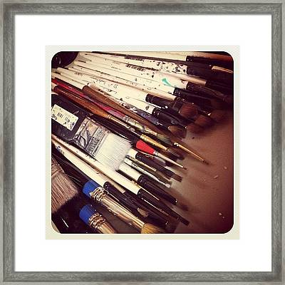 Brushes Lots Of Brushes Framed Print