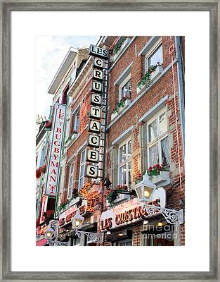 Brussels - Place Sainte Catherine Restaurants Framed Print by Carol Groenen