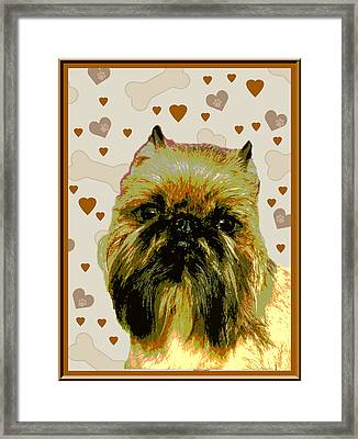 Brussels Griffen Framed Print by One Rude Dawg Orcutt