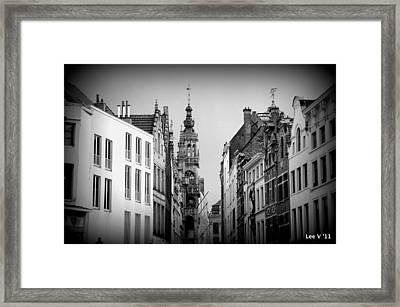 Brussels In Black And White Framed Print by Lee Versluis