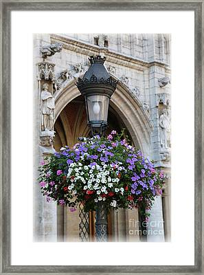 Brussels Lamp Post Framed Print by Carol Groenen