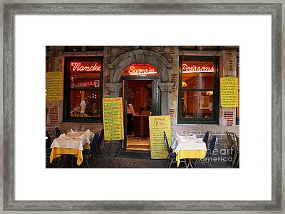 Brussels - Restaurant Savarin Framed Print by Carol Groenen