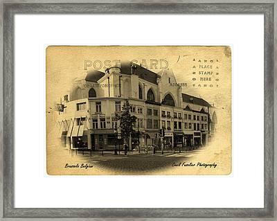 Brussels Street Corner Framed Print by Cecil Fuselier