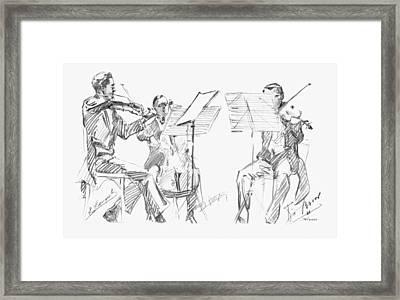 Brussels String Trio Framed Print by Granger