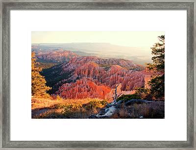 Bryce Canyon At Sunrise Framed Print