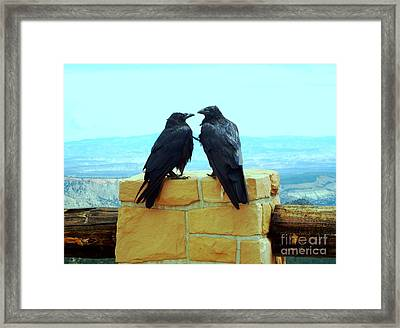 Bryce Canyon Couple Framed Print by Ann Johndro-Collins