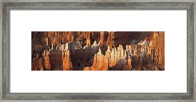 Framed Print featuring the photograph Bryce Canyon Desert Sunrise Panorama by Mike Irwin