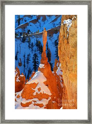 Bryce Canyon Winter 10 Framed Print by Bob Christopher