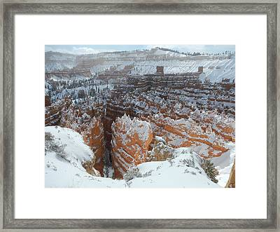Bryce Canyon Feburary  Framed Print