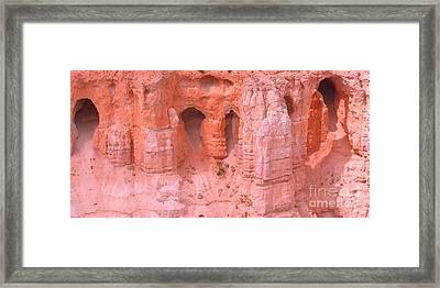 Framed Print featuring the photograph Bryce Canyon Grottos by Ann Johndro-Collins
