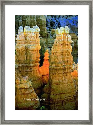Bryce Canyon Hoodoos With Logo Framed Print