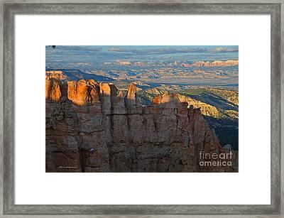 Bryce Canyon National Park Dusk Landscape Framed Print by Nature Scapes Fine Art