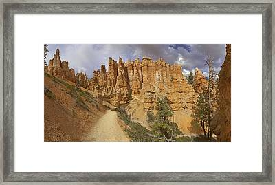 Framed Print featuring the photograph Bryce Canyon Trail by Gregory Scott