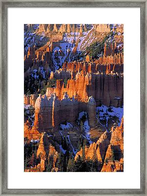 Bryce Sunrise Framed Print