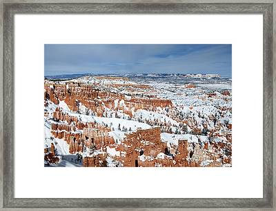 Bryce Winter Framed Print by Bob and Nancy Kendrick