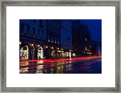 Bryggen Lights Framed Print by A A