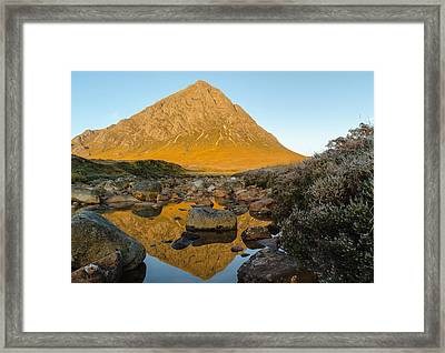 Buachaille Etive Mor At Sunrise Framed Print by Ben Spencer