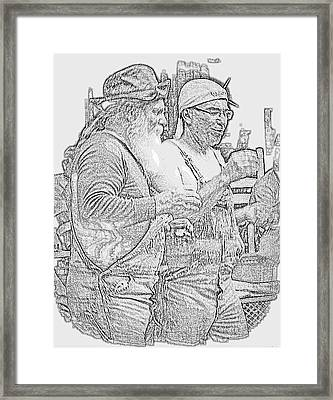 Framed Print featuring the digital art Bubba And Bubba by Angelia Hodges Clay
