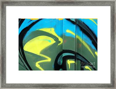 Bubble Abstract Framed Print by Joan McArthur