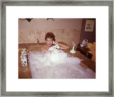 Bubble Bath Framed Print