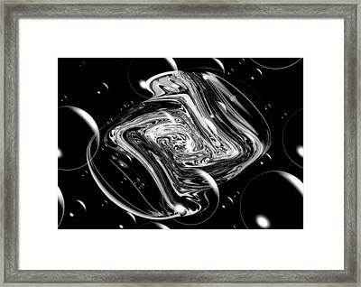 Bubble Blast Framed Print by Karen Scovill