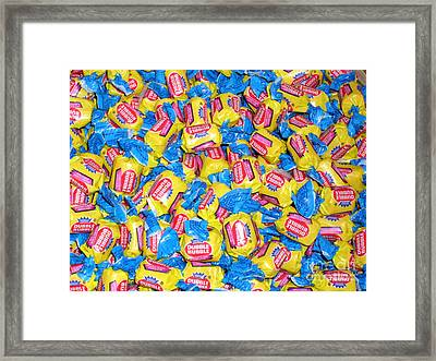 Framed Print featuring the photograph Bubble Gum Bubble Gum by Beth Saffer
